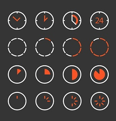 Different circle clock clip-art Design elements vector image