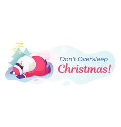 dont oversleep christmas banner vector image