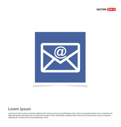 E-mail icon - blue photo frame vector