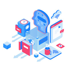 Education and knowledge isometric vector
