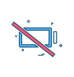 empty battery icon design vector image