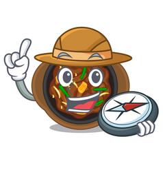 Explorer bulgogi in a cartoon shape vector