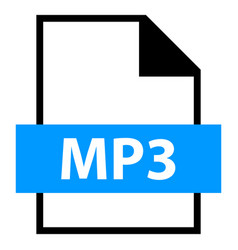 file name extension mp3 type vector image