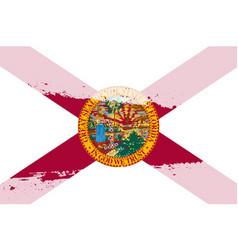Florida flag splash vector