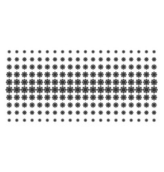 gear shape halftone pattern vector image