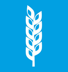 Grain spike icon white vector