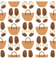 Hand bag female fashion seamless pattern vector