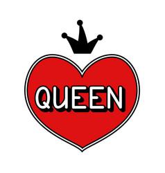 Hand drawn queen vector