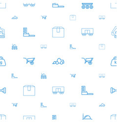 Heavy icons pattern seamless white background vector