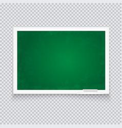 horizontal green chalkboard in neat plastic case vector image