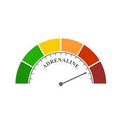 Hormone adrenaline level vector