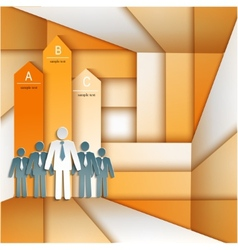 infographics people arrows vector image