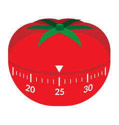 Kitchen timer in form a red tomato vector