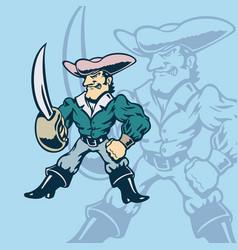 knight american cartoon vector image