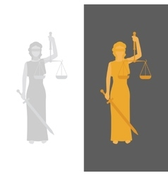 Lady justice or justitia vector