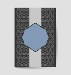 Luxury cover page design with pattern background vector