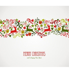 Merry Christmas decorations elements border vector