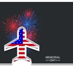 modern memorial day or 4 july vector image