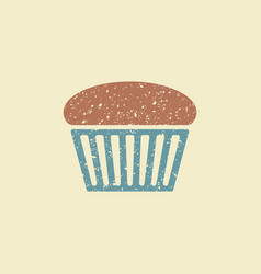 Muffin flat icon vector