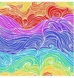 Ocean waves colorful-09 vector