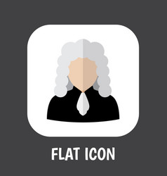 of profession symbol on judge vector image