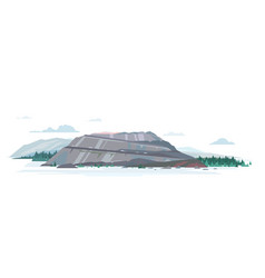 Open pit quarry isolated vector