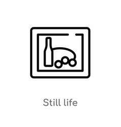 Outline still life icon isolated black simple vector
