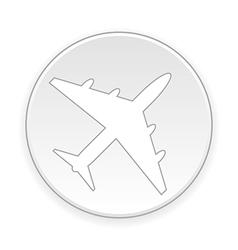 Plane button vector