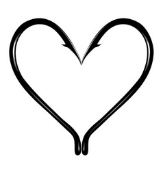 Prickly heart vector