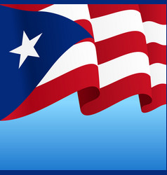 Puerto rican flag wavy abstract background vector
