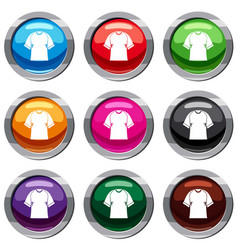 raglan tshirt set 9 collection vector image