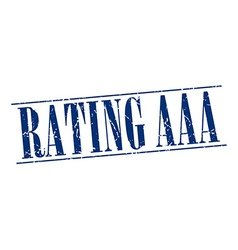 Rating aaa blue grunge vintage stamp isolated on vector
