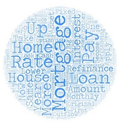 Refinance mortgage text background wordcloud vector