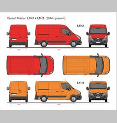 Renault master cargo van swb l1 2014-present vector