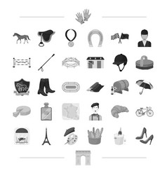running animal landmark and other web icon in vector image