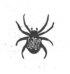 Scary lettering in spider vector