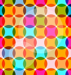 Seamless Circles Colorful Bubbles Pattern vector image