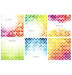 Set of abstract colorful backgrounds vector image