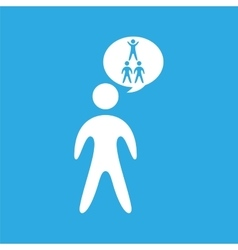 Silhouete men pyramid persons design vector