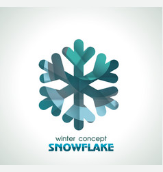 snowflake sign symbol of winter christmas and new vector image