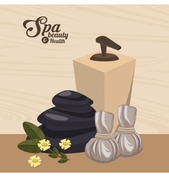 Spa beauty and health wellness luxury vector