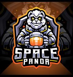Space panda esport mascot logo design vector