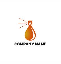 spray oil logo vector image