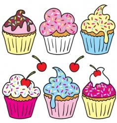 Sprinkle cupcakes vector