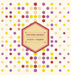 Square white background with hexagon colorful vector