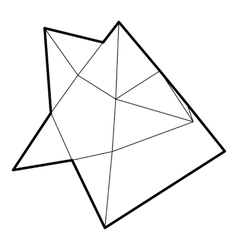 Star icon in outline style vector