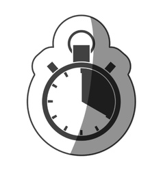 sticker monochrome chronometer with half shaded vector image vector image