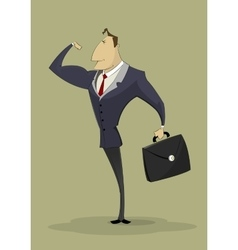 Strong arm businessman vector