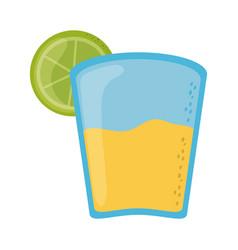 Tequila and lemon cinco de mayo mexican vector