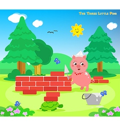 The three little pigs 7 the bricks house vector image
